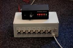 Antenní přepínač a ovladací skříňka